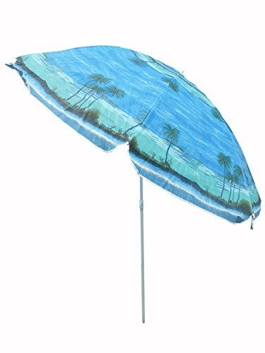 Sonnenschirm Ø 220cm Schirm ideal für Balkon Garten und Strand Sonnenschutz SO28