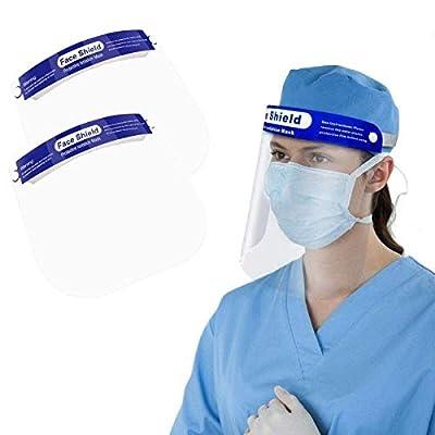 ◆ 【Alta Seguridad】: Esta visera protectora es útil para proteger los ojos, la nariz y la boca de aerosoles, aerosoles y salpicaduras.OJO:Para proteger la máscara del daño, la superficie de la máscara está cubierta con una película protectora. Retire ...