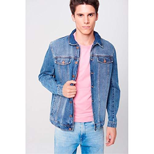 Jaqueta Jeans Trucker Unissex Tam: P/Cor: BLUE