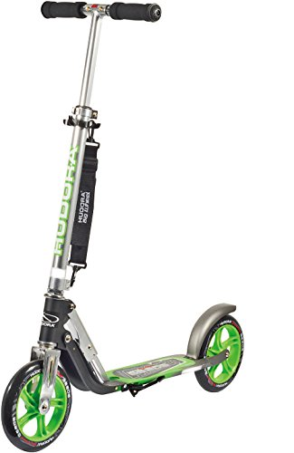 HUDORA 14695 Kick Scooters for Adults & Children Aged 10+, 2 Big PU Wheels 205 mm, Easily Fold & Carry