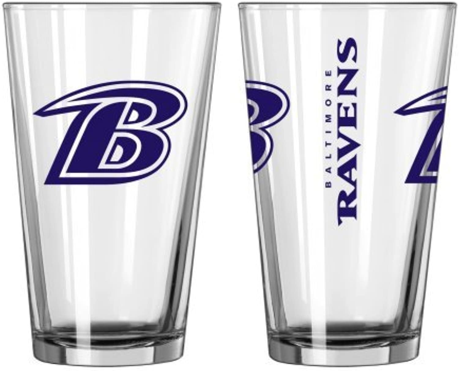 2015 NFL Football Gameday Beer Pints - 16 ounce Mixing Glasses, Set of 2