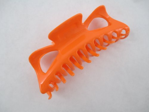 """Large Claw Hair Clips Jumbo Hair Clips (Orange) 5"""" by Selcessories"""
