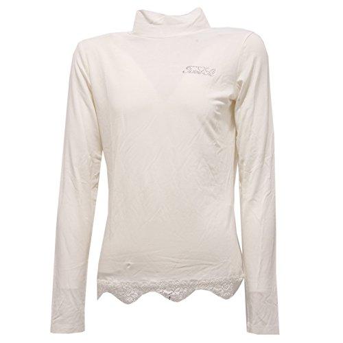 6442W Maglia Bimba Twin-Set Simona BARBIERI Girl t-Shirt lupetto Avorio