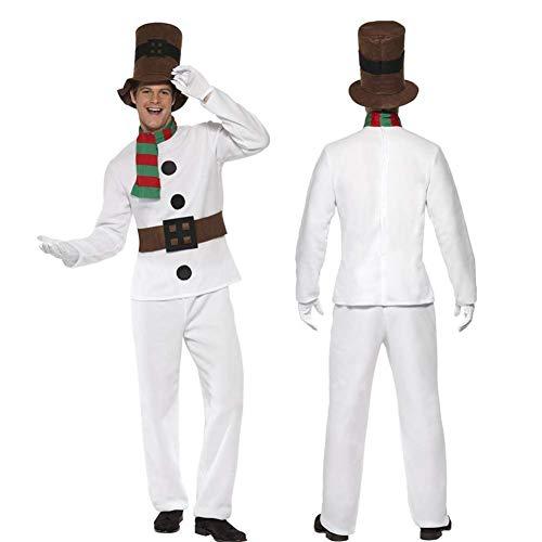 Disfraz de muñeco de nieve Parejas Señoras Hombre Muñeco de nieve Disfraz de Cosplay Disfraz de pareja de Navidad Muñeco de nieve Disfraces Navidad Disfraces Trajes para Navidad Escenario Disfraz,B