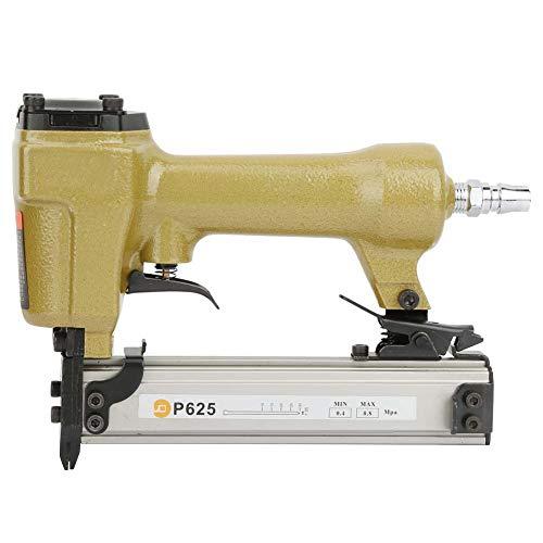 Pistola de Clavos Neumática P625 Clavadora de Aire Clavadora de Aire Grapadora de Aire Accesorio para Trabajar la Madera 100 Piezas Capacidad de Clavo de Grano Longitud 10-25 mm