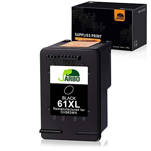 JARBO Remanufactured Ink Cartridge Replacement for HP 61XL 61 XL 61 Black Ink Cartridge, 1 Black, for HP Envy 4500 5535 Deskjet 1000 1010 1055 1512 2510 2512 2544 2549 3000 3510 3050A Officejet 4635