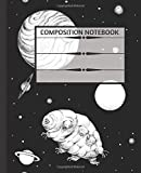 Composition Book: Cute Tardigrades on Space | Water Bears, Cute Tiny Animals on the Moon | Trendy Wide Ruled Subject Notebook | Blank Lined Writing ... | Work, Home, Study Organizer | 7.5 x 9.25 '