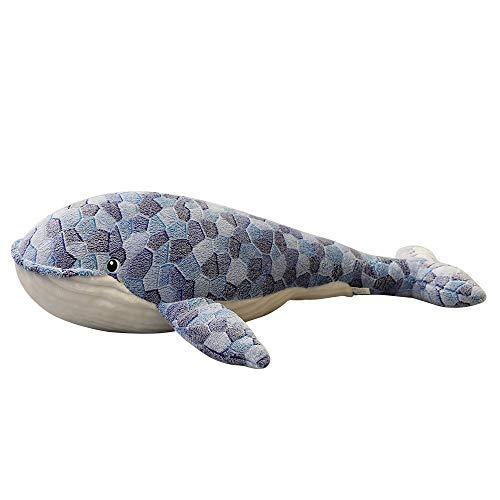 MUSWEET Peluches suave de la muñeca Los animales de peluche juguetes for mascotas almohada animal, lvely sueño ballena ballena juguete de felpa muñeca rellena suave felpa corta de almohadas for dormir