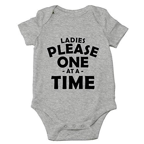 Qian Mu888 Ladies Please One at A Time – Divertido regalo para mujer – Bonito body de una pieza para bebé