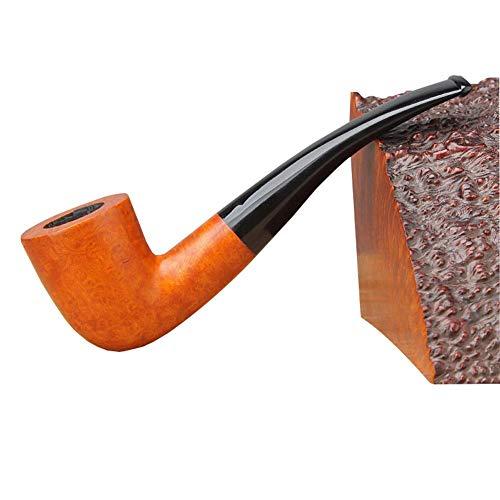 KDMB Pipa de Madera para Fumar Tabaco, Pipa de Madera de Brezo Hecha a Mano Clásico Desmontable Durable Mini Filtro Vintage Accesorios para Pipa de Fumar Tabaco