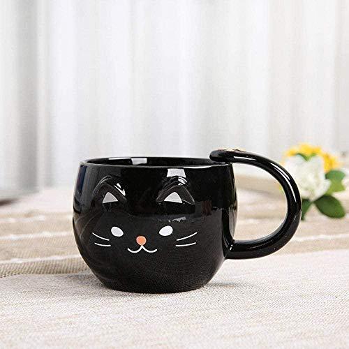 Taza de cerámica para café / té,400 ml lindo gato leche cerámica agua taza de té gatito de dibujos animados oficina en casa jugo jugo estilo infantil regalo