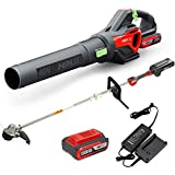 HENX Kit combinado de cortadora de cuerdas inalámbrico de 40 V...