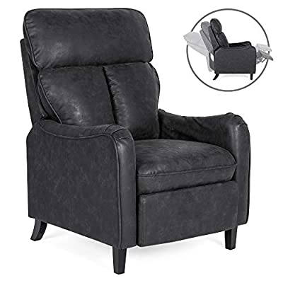 Best Choice Products Upholstered Faux Leather English Roll Arm Chair Recliner w/ 160-Degree Reclining, Leg Rest