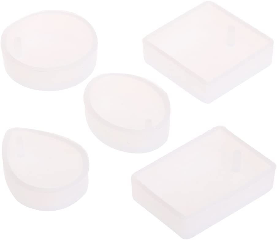 Jpwpowe 5pcs DIY Silicone Fresno Mall Mould Craft Resin Je Mold for Mail order Necklace