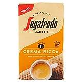 Segafredo - Zannetti- Cafe Molido - Crema Ricca- Intensidad 11 - Aroma Intenso y Crema Agradable - 225 Gramos