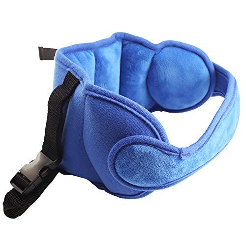 Yosemy Baby Kopfstütze für Autositze, Baby, Autositz, Sicherheitssitz für Kinder, weich, bequem, verstellbarer Sicherheitsgurt, Blau