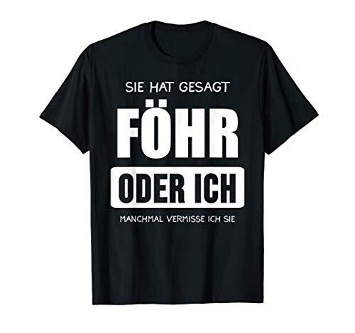 Herren Föhr Nordsee Nordfriesische Inseln Urlaub Geschenk T-Shirt
