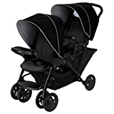 Graco Stadium Duo Click Connect Tandem Double Pushchair/Stroller, Car Seat Compatible, Black/Grey