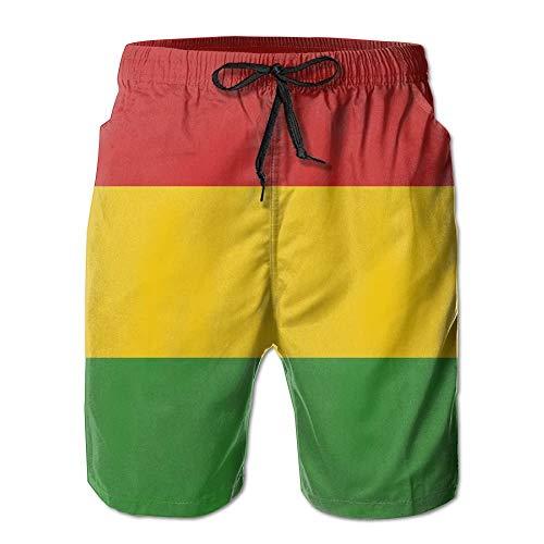 Mens Reggae Rasta Flag Breathable Beach Board Shorts Swim Trunks Quick Dry