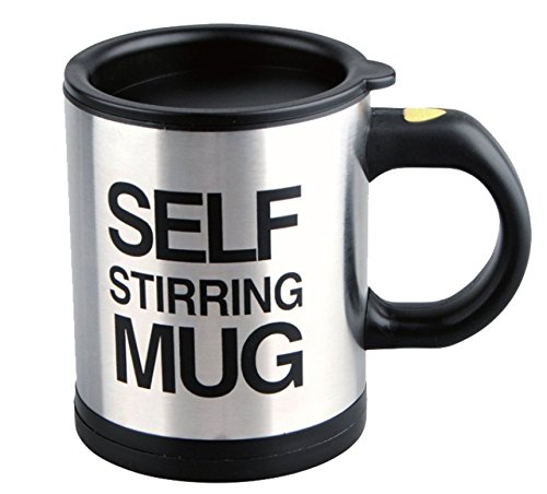 URBeauty 1PCS 350ML Self Stirring Coffee Cup Mugs Electric Milk powder Mixer Automatic Self-Stirring Mug Mixing Drinking Cups With Lid Funny Best for Morning Travelling Home Office Men and Women