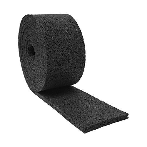 Rullo in granulato di gomma da 8 mm, 77 x 2300 mm, resistente alle intemperie, in plastica granulato di gomma per balconi, giardini e terrazze, pavimento esterno come tappeto, per pavimenti