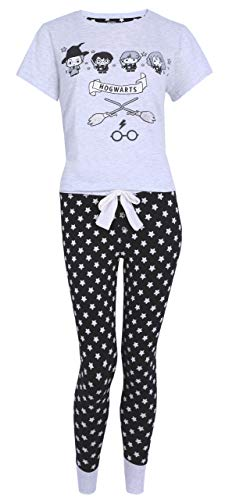 Pijama Gris y Negro de Estrellas Harry Potter Large