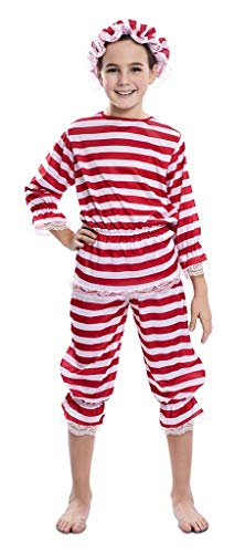 EUROCARNAVALES Disfraz de Bañista Antigua para niña 5 a 6 años