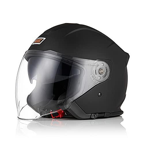 Origine Öffnen 3/4 Motorradhelm Jethelm ECE 22-05 Zertifizierung mit Doppelvisier Geeignet für Cruising Scooter