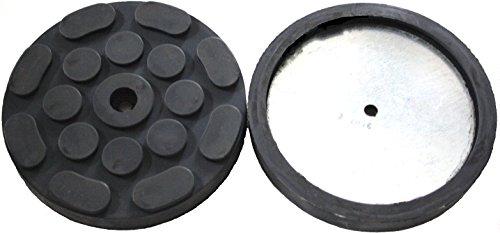 120x17mm Gummiauflage für z. Bsp. Hofmann Hebebühne Gummi-Unterlage Auflage Wagen-Heber rund Auto Klotz Rangier-Wagenheber Puffer Reifen Reifenwechsel LKW Räder KFZ Tuning Zubehör