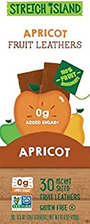 Stretch Island Apricot Original Fruit Leather Snacks – Vegan   Gluten Free   Non-GMO   No Sugar Added - 0.5 Oz Strips (30 Count)