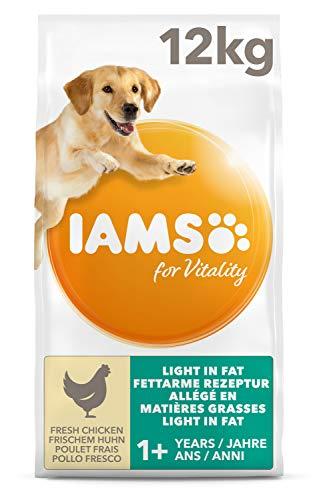 IAMS for Vitality Adult Hundefutter trocken fettarm mit frischem Huhn, 12kg
