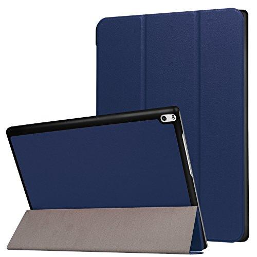 Lobwerk Tabletschutz für Lenovo Tab4 10 Plus 10.1 Zoll TB-X704F/L Ultra Slim Cover Hardcase aufstellbar Wake und Sleep Funktion + GRATIS Stylus Touch Pen