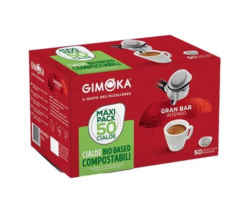 Gimoka - Cialde Ese 44, Compatibili con Sistema Easy Serving Espresso, in Carta Compostabile, Gusto Intenso, 50 Cialde Caffè
