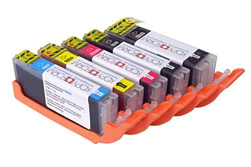 KOPYFORM Lebensmitteltinte Patronen-Set Canon-kompatibel (PGI-550 + CLI-551, z.B. IP7250) - TK150