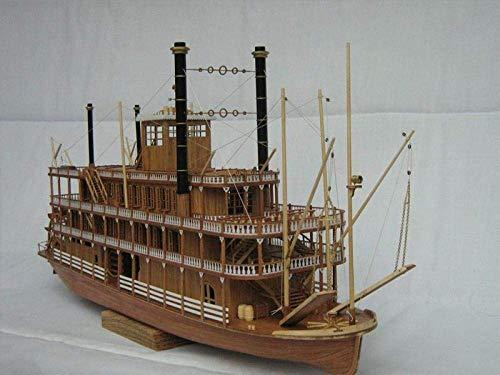 XIUYU Wohnzimmerdekorationen Wasserfahrzeug Modellbau Kits Mississippi 1870 Mississippi Dampfschiff Paddel Simulation Holzschiff Model Kit