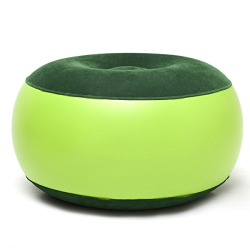 cohk aufblasbarer Stuhl Langlebig tragbar outdoor Camping Stuhl, aufblasbar Hocker Fußstütze Kissen für Home Office Yoga