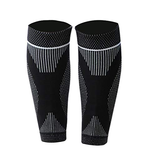 Houshelp Compression Knee Sleeve Best Brace Sports Footless Calf Socks Support Helps Breathable Protector Warp pad