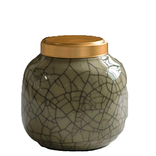 llddrz Urna de mascotas de cerámica verde para cenizas de perros, urnas de mascotas para gatos, urna de perro, urna de gato, urna de cenizas conmemorativas, urnas de cremación para perros