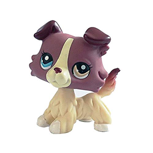 LPS Dog Toy,LPS Pet Collie Dog Child Girl Figure Toy Loose Cute for 1 2 3 4 5 6 7 8 9 10 Year Old Kids Children Baby Boys and Girls