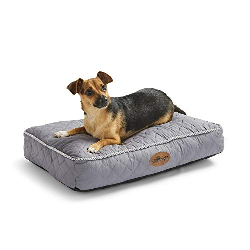 Silentnight Ultrabounce Pet Bed - Small Dog Bed Pillow - Grey Cat Bed with Machine Washable Cover, Non-Slip Base