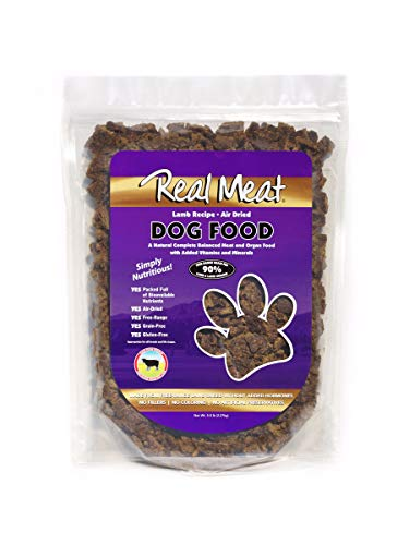 Real Meat 5lb Air-Dried Dog Food, Lamb