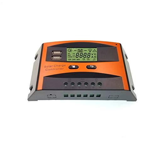 JZK 30A 12V 24V Intelligente regolatore di Carica Pannello Solare con Display e Porta USB, regolatore di Tensione e amperaggio per Pannello Solare Lampada Batteria e LED Illuminazione