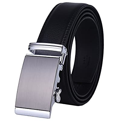 Lavemi Men's Real Leather Ratchet Dress Belt with Automatic Buckle,Elegant Gift Box(576-01 new)