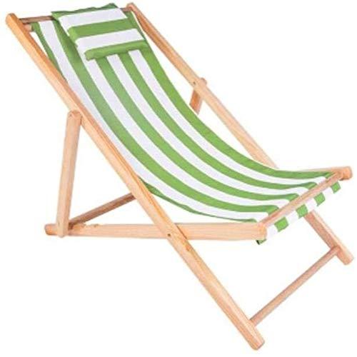 ZZRS Silla de Playa Plegable reclinable, con la Almohadilla Balcón Siesta Sillón Plegable de Playa Tumbona (Color: E) (Color : B)