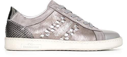 NeroGiardini A719510D Sneaker Mujer De Piel - Grafito 36 EU (Ropa)