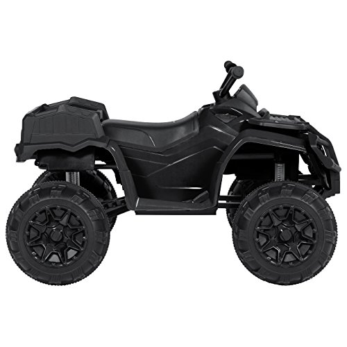 Best Choice Products 12V Kids Ride On 4-Wheeler w/ 2 Speeds, MP3, and Lights, Black