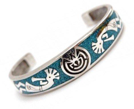 Indianerschmuck Armspange für Herren aus Sterling Silber - Man In The Maze, XXL