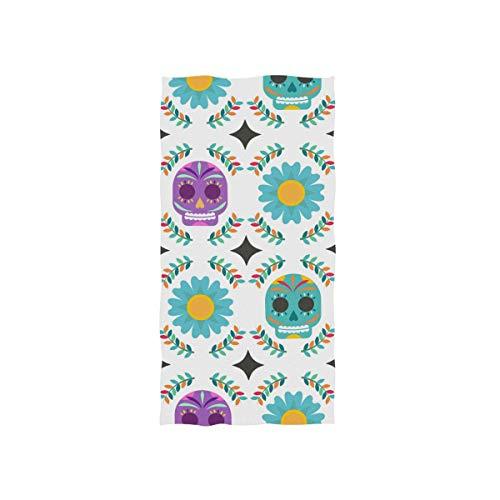 FANTAZIO - Toalla de algodón de lujo, diseño de calavera