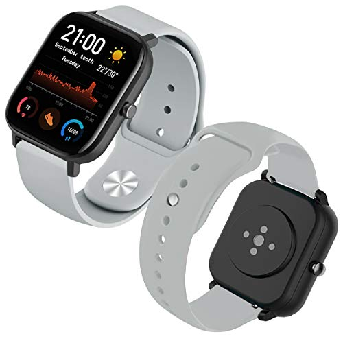 Th-some Correa para Amazfit GTS Smartwatch Reloj de Pulsera Compatible con Amazfit GTS/ Amazfit Bip/ Amazfit GTR 42mm Band Silicona