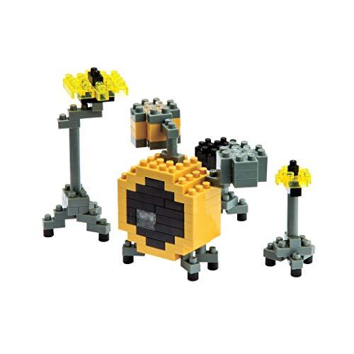 nanoblock NBC-024 - Drum Set / Schlagzeug, Minibaustein 3D-Puzzle, Mini Collection Serie, 170 Teile, Schwierigkeitsstufe 2, mittel